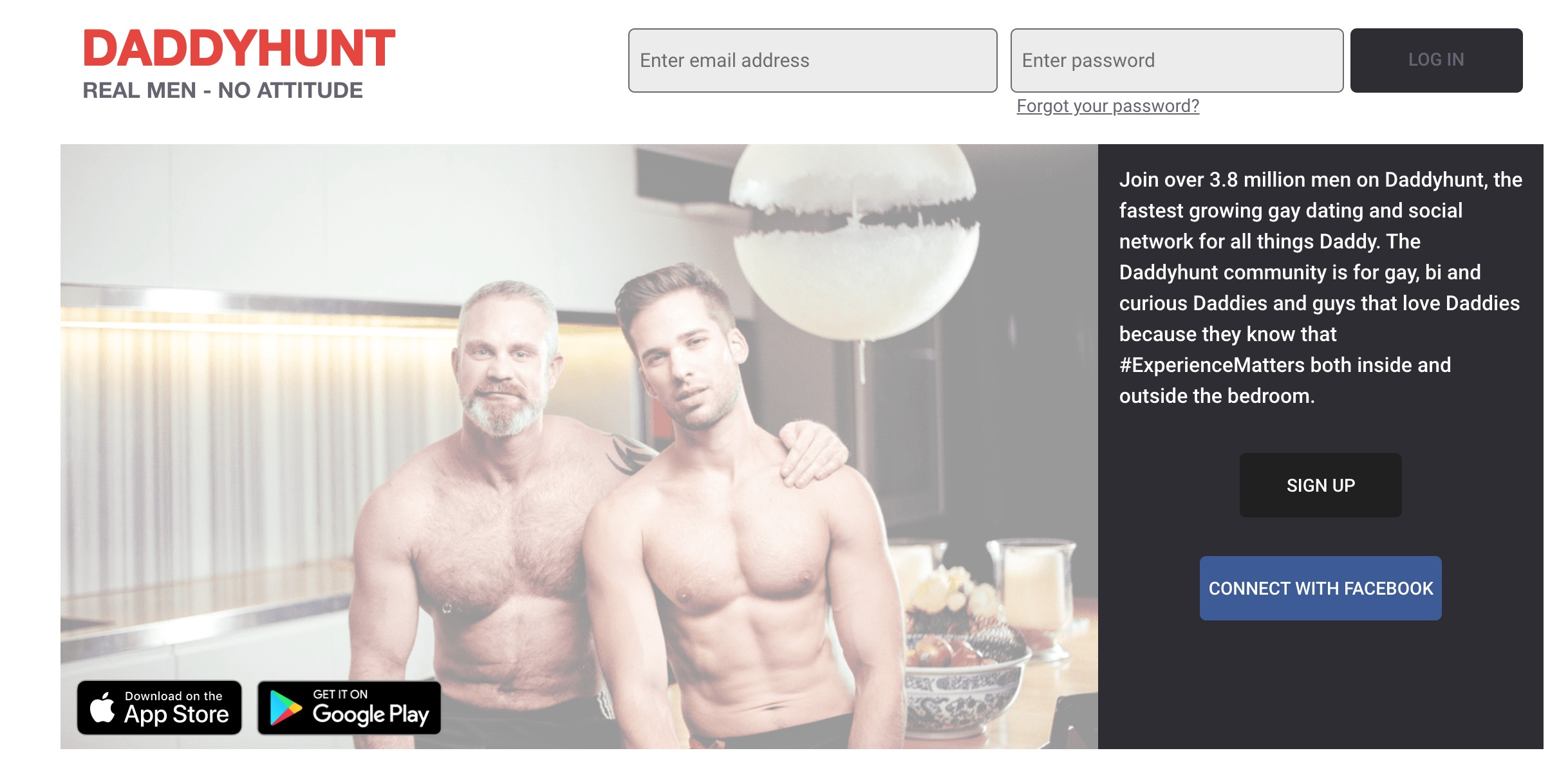 DaddyHunt main page