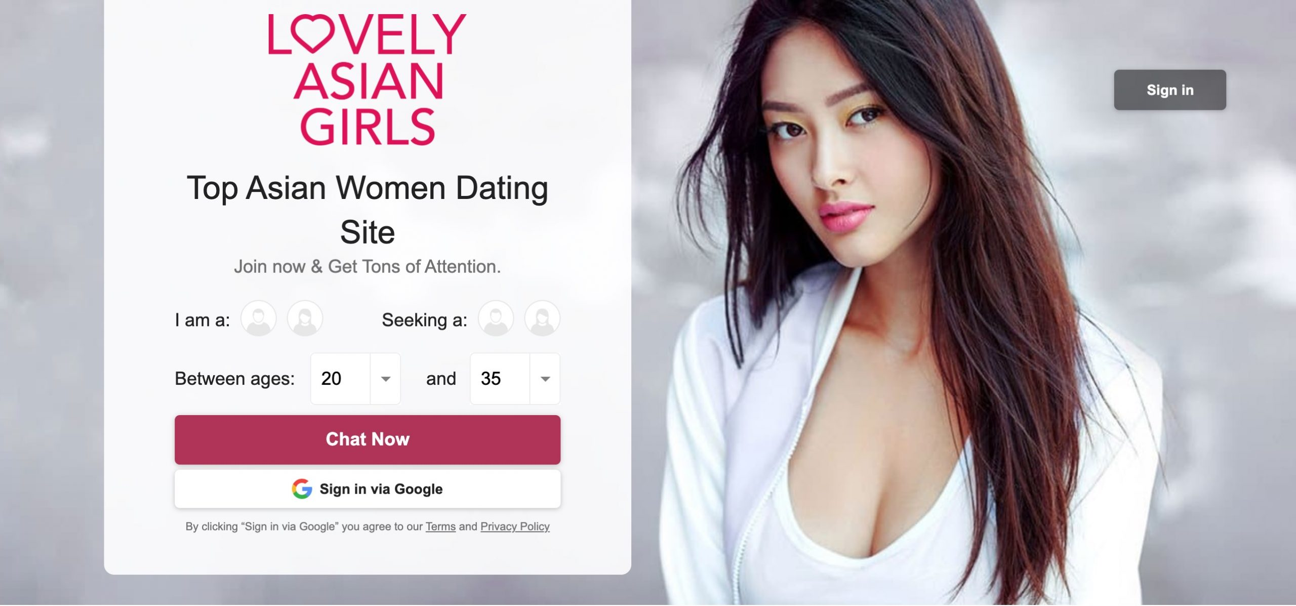 LovelyAsianGirls main page