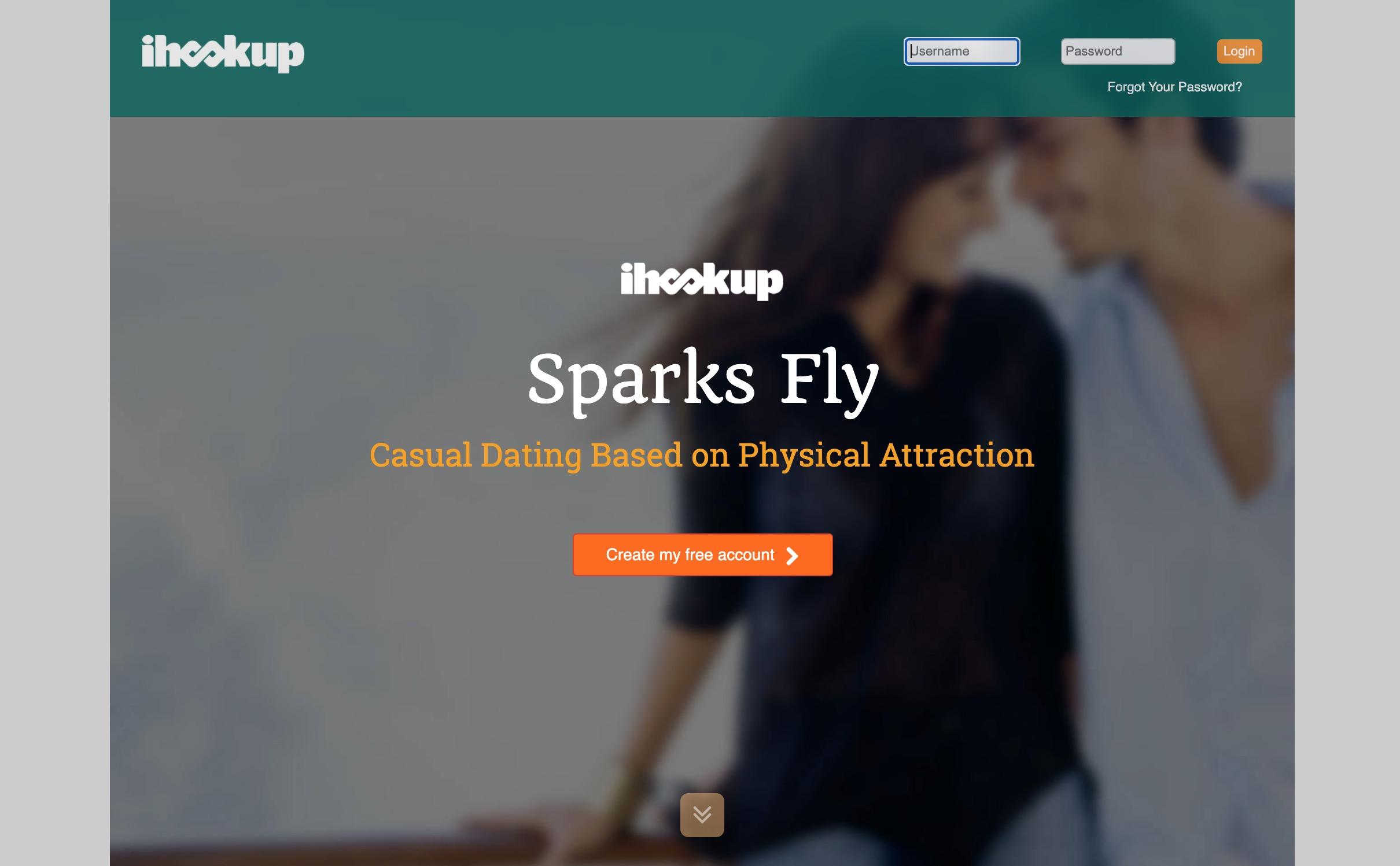 iHookup main page